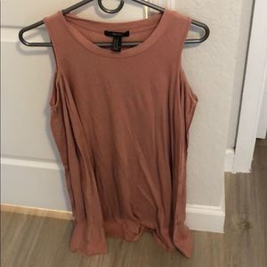 Cold shoulder mauve jersey dress